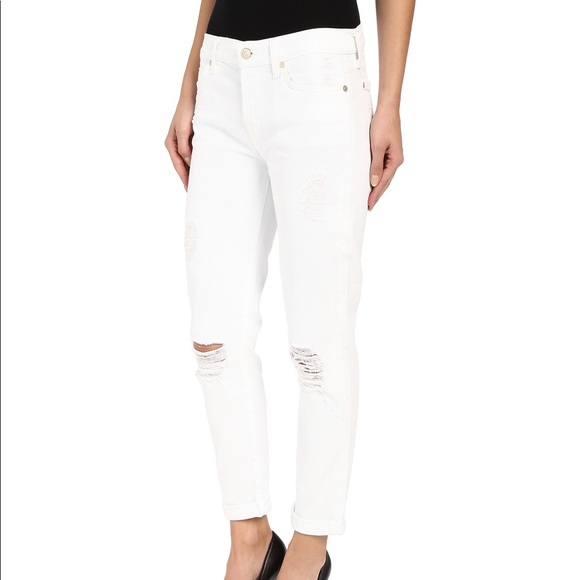 f2063e12b 7 For All Mankind Denim - 7 for all mankind Josefina Distressed White jeans
